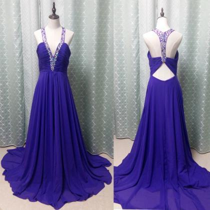 Royal Blue Dress , Blue Prom Dress ..