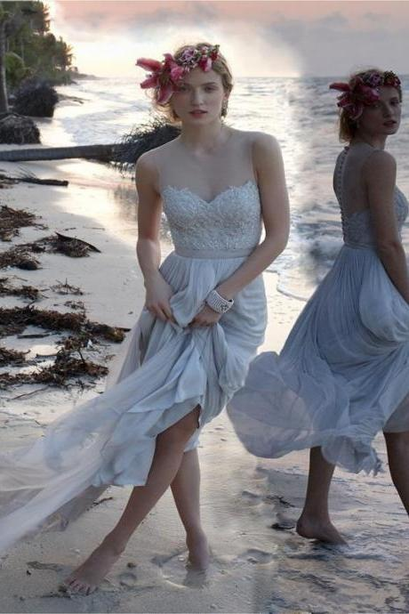 Vintage Wedding Dress , Wedding Dress 2016 , Beach Wedding Dress , Simple Beautiful Wedding Dress , Bridal Dress 2017 , Custom Made Wedding Dress