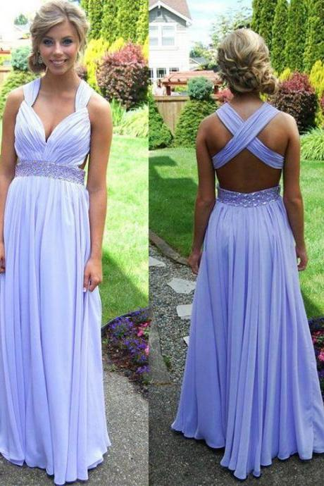 Prom Dress 2017 , Purple Prom Dress , Sexy Prom Dress , Beading Prom Dress , A-Line Prom Dress , Long Prom Dress , Custom Made Prom Dress