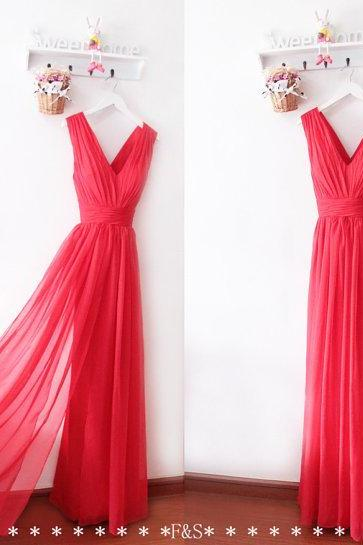 Red Dress , Red Prom Dress , Long Red Dress , Beautiful Red Dress , Free Custom Made Dress