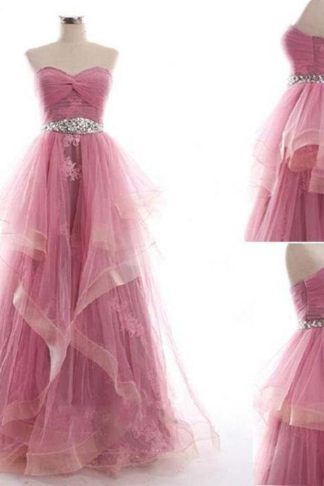 Prom Dress , Beautiful Prom Dress , Lace Appliques Prom Dress , Princess Style Prom Dress , Cute Bubble Dress , Free Custom Made Dress
