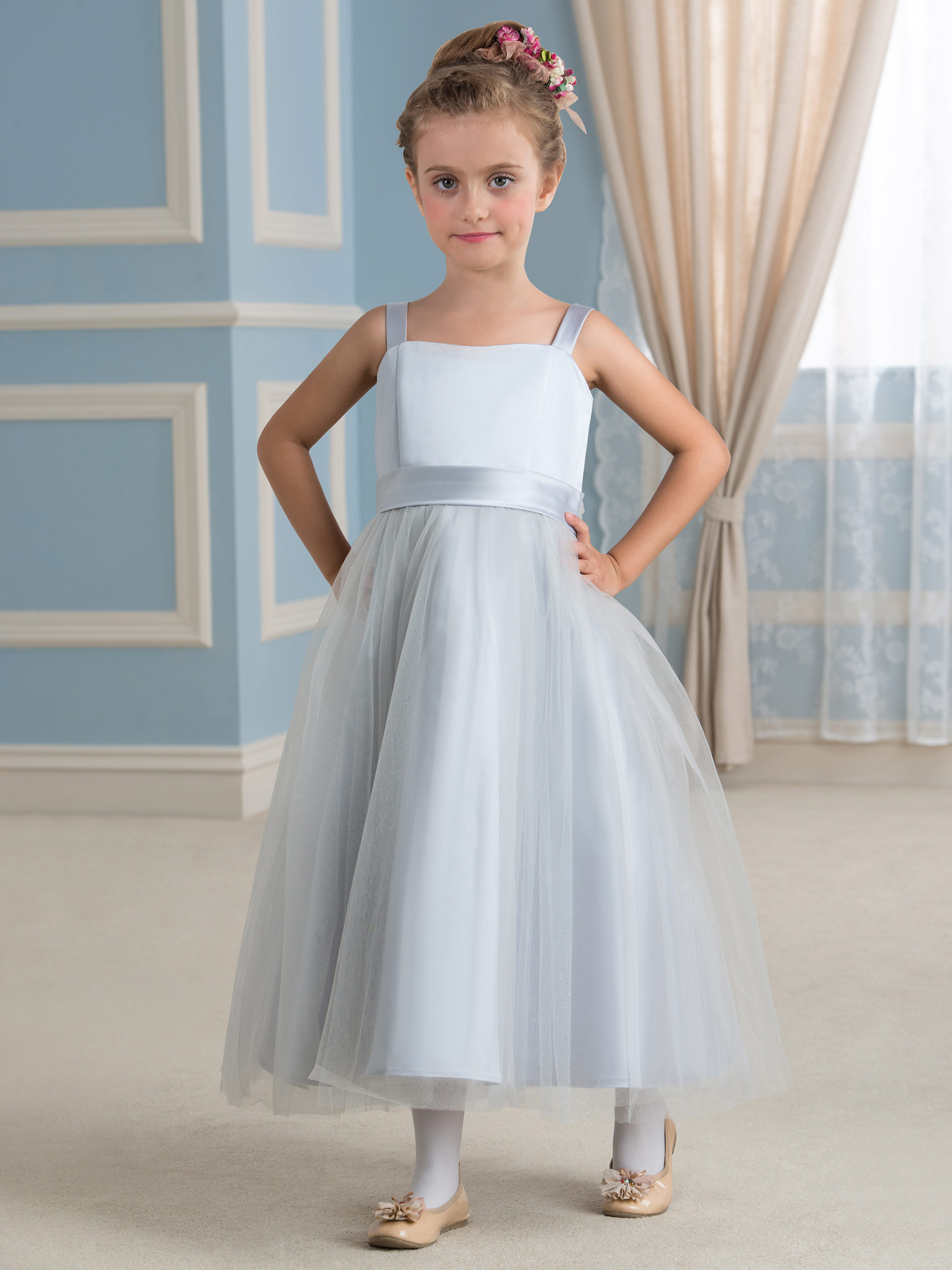 Cute little girl dress princess girl dress flower girl for Wedding dresses for young girls
